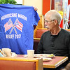 Lynn, Ma.  10-8-17. Janice Leighton, left, shows Jack Leighton the T-Short she bought at the Brother's Deli fundraiser for Puerto Ricans hurt by Hurricane Maria on Sunday.