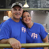 Lynn,Ma. 10-8-17. George Markos, the owner of Brother's Deli, left, and Carmen Guy, the coordinator of the benefit for raise money for Puerto Ricans hurt by  Hurricane Maria at Brother's Deli on Sunday.