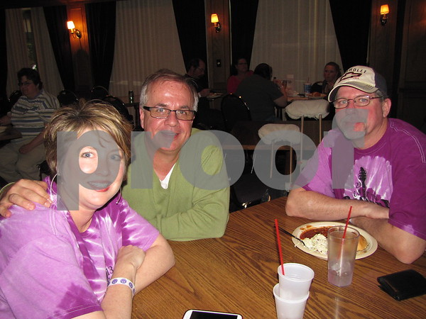 "Suzanne and Steve Schwendemann, and Troy McNamara attended the fundraiser for Alzheimer's ""A Concert to Remember""."