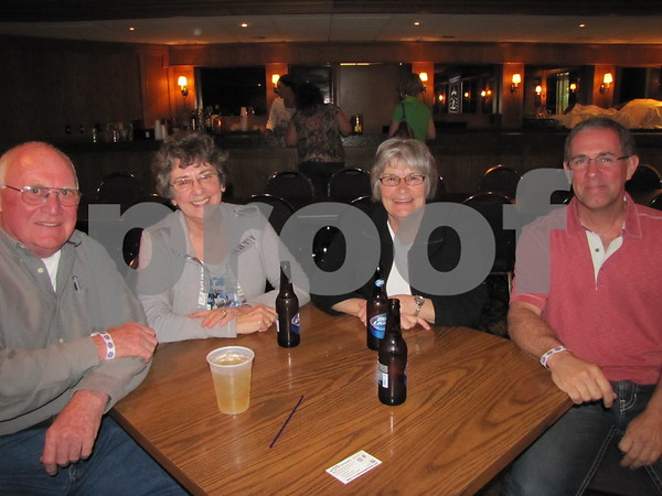 "Leonard Moran, Cathy Sabus, Moni Moran, and Rick Sabus attended the fundraiser for Alzheimer's ""A Concert to Remember""."