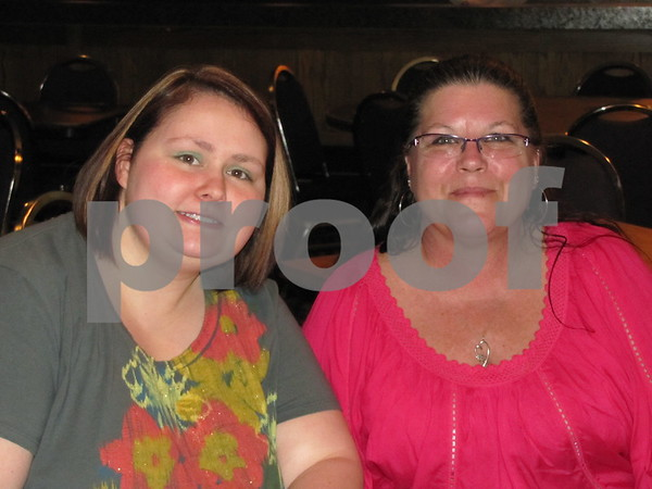 """Alicia Miller and Vicki Fowler attended the fundraiser for Alzheimer's """"A Concert to Remember""""."""