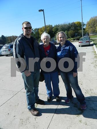 Left to right: Robert Gernhart, Loretta Gilday, and Jenny Gernhart