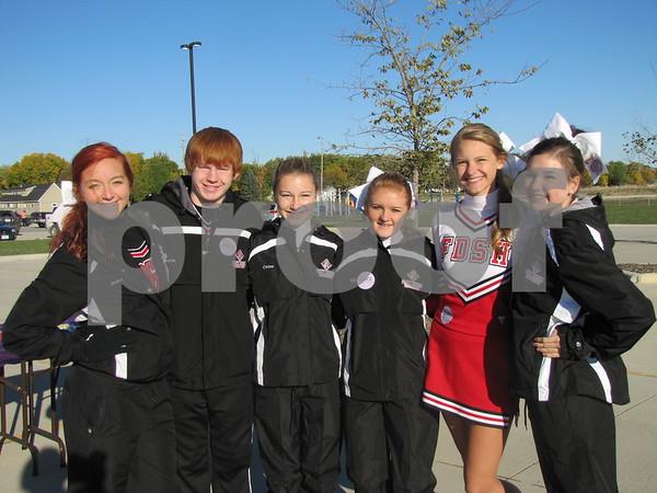 FDSH cheerleaders volunteering at the Alzheimer's Walk were Erin Ruden, Devin Ulstad, Chloe Lentsch, Eli Larson, Karter Rossing, and Madison Goodner.