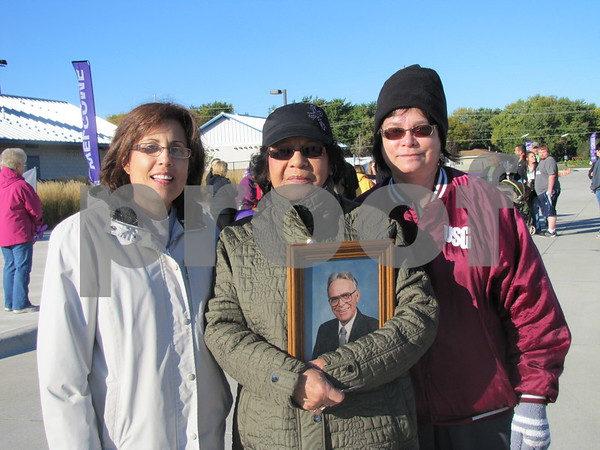 Jackie Watters, Jennie McCrady, and Theresa Oothoudt were walking for Alzheimers.