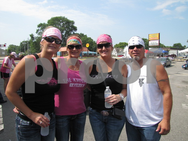 Katie Clay, Cindy Petersen, with Steph and Tracy Fortune.