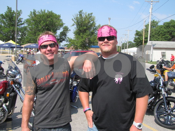 Ryan Reekers and Bill Black before they head out on the 'Angel Ride' to save the tatas.