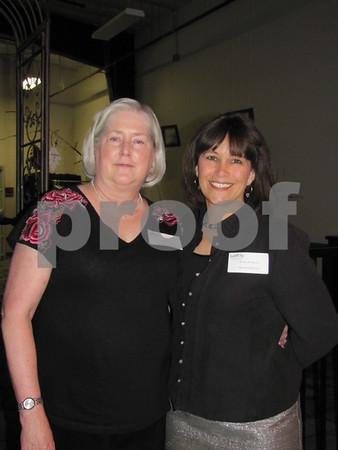 Dr. Carey Bligard and Teresa Naughton, Executive Director of LifeWorks.