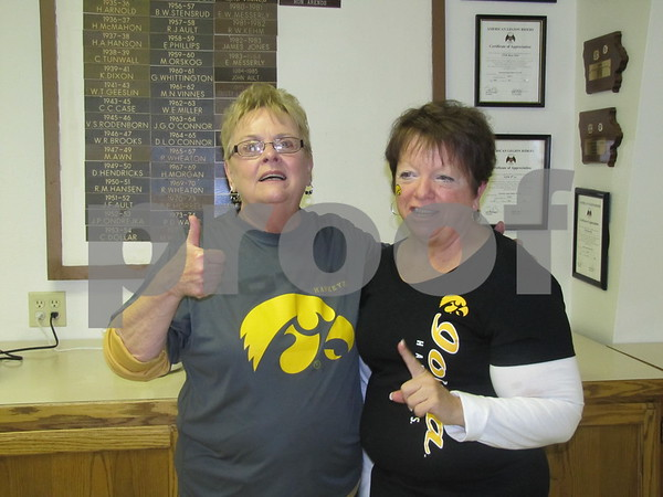Ladies of the VFW Auxiliary, Sandy Jordison and Kay Arends.