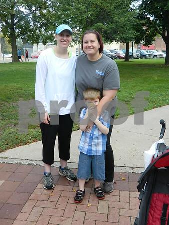Left to right: Brandi Zimmermann, Emily Geerdes and Rylan Baker