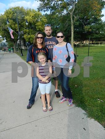 left to rigth: Madison Sullivan, Julie and Jason Sullivan and Jamie Sullivan