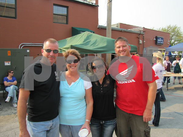 Jeff and Janette Holloway, and Heather and Mark Farrell.