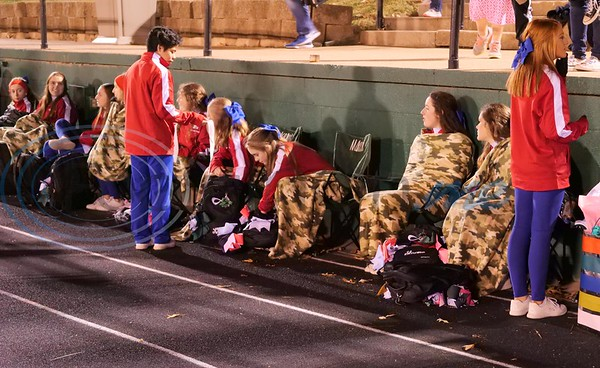 T. K. Gorman Cheerleaders trying to stay warm