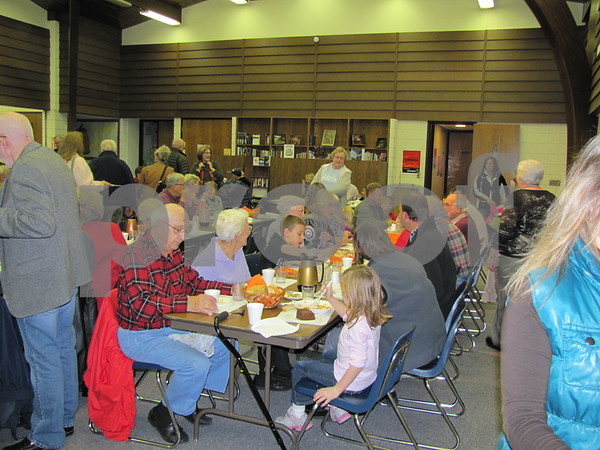 First Congregational UCC church served a delicious homemade soup and pie supper to a full house on election night.  The church holds this fundraiser each year on election night.