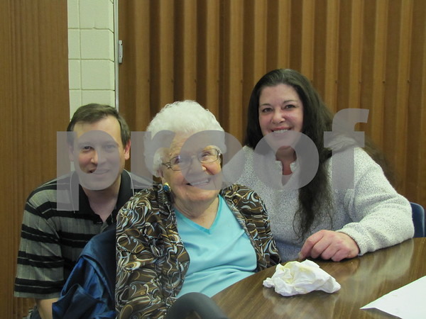Pat Ford, Esther Sickman, and Leanna Nafe attended the Election Night Soup and Pie Supper at First Congregational UCC church.