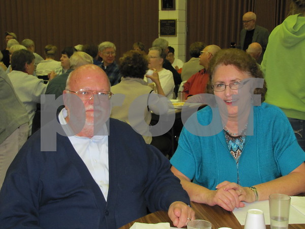 Charles and Marilyn Johnson attended the Election Night Soup and Pie fundraiser for First Congregational UCC church in Fort Dodge.