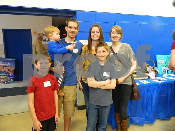 Left to right: Elliot, Matt Sees, Amy Sees, Owen and Nicole Machenzie