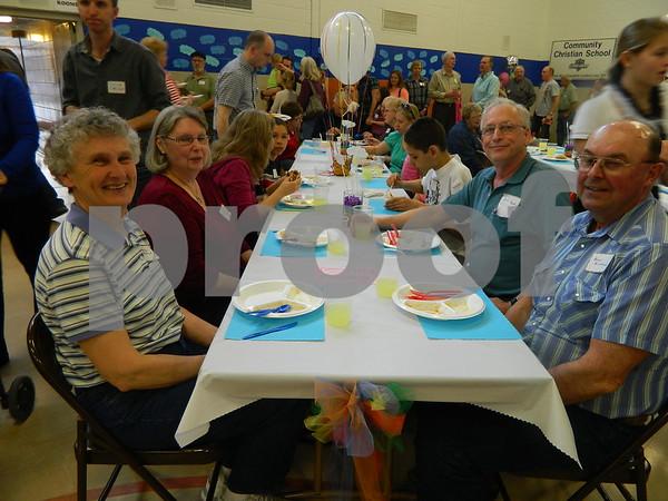 Left to right: Maralyn Birklaml, Niki Bastin, Bert Bastin, and Beryl  Birkland