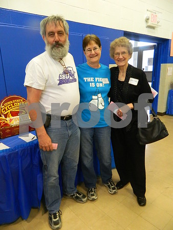 Left to right: Steve and Diane Mattke and Jollen Bockoven