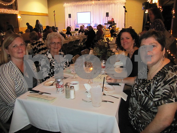 Mother Vivian Rotert with her daughters, Connie Miklo, Rotert, Jan Miller, and Vicki Rotert attended the fundraiser for LifeWorks held at the Opera House in Fort Dodge.
