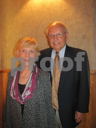 LifeWorks Board member Mel Schroeder and his wife Jo at the fundraiser 'A Night for LifeWorks' held at the Fort Museum Opera House in Fort Dodge.