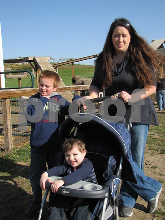 Briana Brouchous with her boys Dillon and Emmitt.