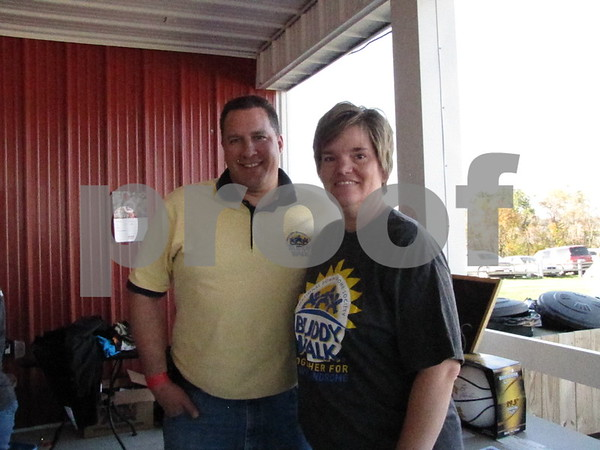 Scott and Trudy Hallgren of the Northwest Iowa Down Syndrome Society.