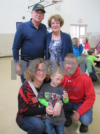 Doug and Mary Conrad, Branwyn, Connor, and Joel Greathouse attended the Kiwanis Pancake Day.