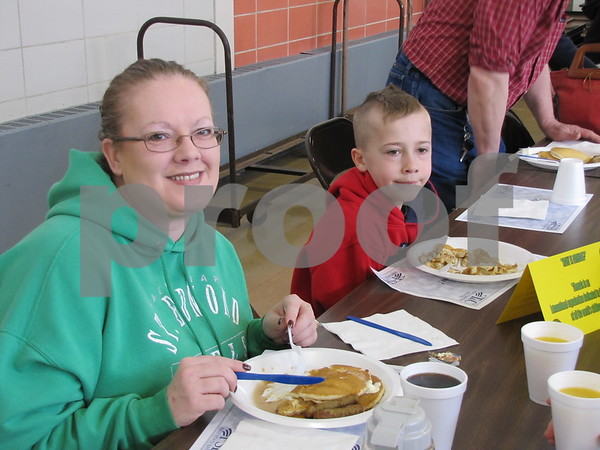 Jodi Price and her son, Cameron attended the Noon Kiwanis Pancake Day fundraiser.