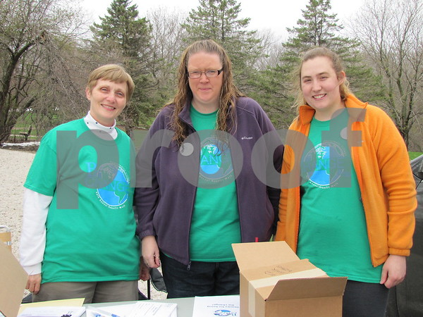 Jean Anderson, Jennifer Tepfer, and Kelsie Mitchell, all employees of Northwoods Living, are ready to sign up participants for the 44th Annual Benefit Walk.