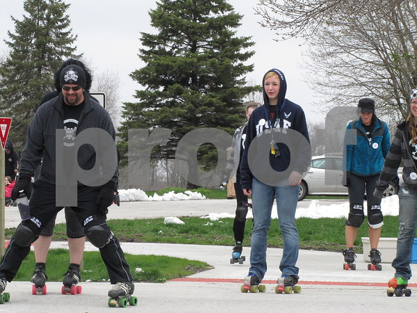 Members of the Dakota City roller blading team participated in the 'walk' to benefit Northwoods Living.