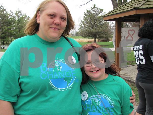 Becky and Bethany Grazier were volunteers for the Northwoods Living 44th Annual Benefit Walk.