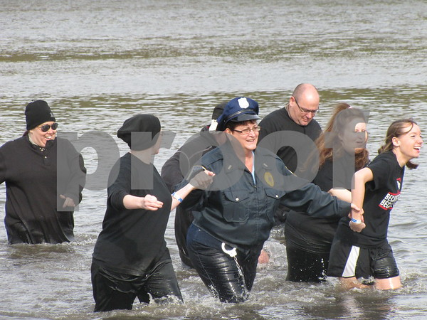 """Cops and Robbers"" after their icy dip."