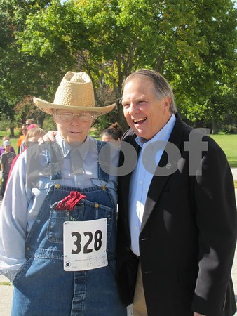 Dr. Janet Secor (in costume) and Senator Daryl Beall.