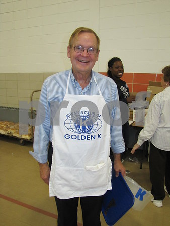 Don Carlson, volunteer and member of Golden Kiwanis at their Soup Supper fundraiser.