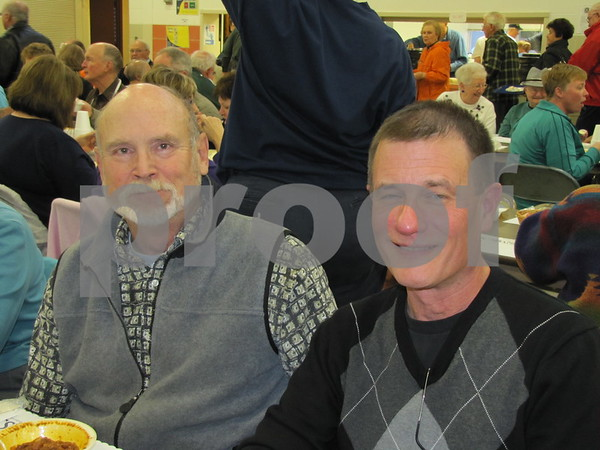 Bruce Stotturb and Craig Miller at the Soup Supper fundraiser for the Golden Kiwanis.