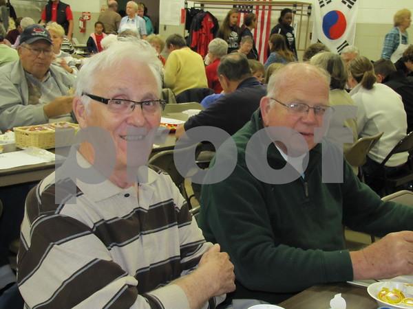 Merv Haugen and John Glesne attended the Golden Kiwanis' Soup Supper fundraiser.
