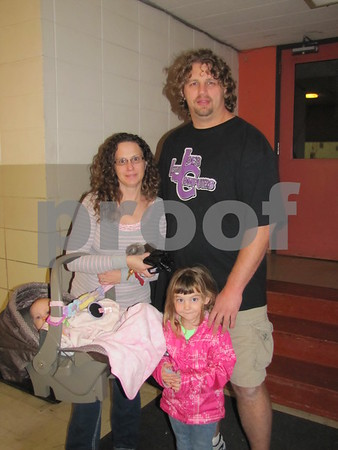 Jennifer and Joe Gilbert, with their children Kallista and Joely, attended the Golden Kiwanis' Soup Supper fundraiser.