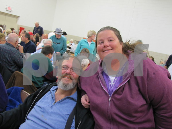 Rick Nelson and daughter, Jana Nelson at the Golden Kiwanis' Soup Supper fundraiser.