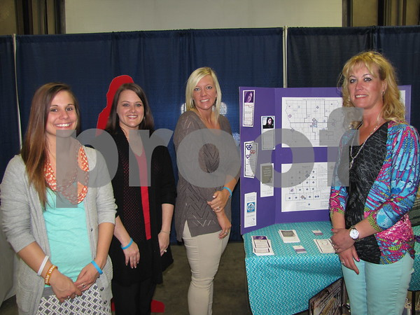 Sara Woolery, Amy Olps, Ashley Habhab, and Stacie Nordin all of Crisis Intervention Service (CIS) were on hand to share information about their services.