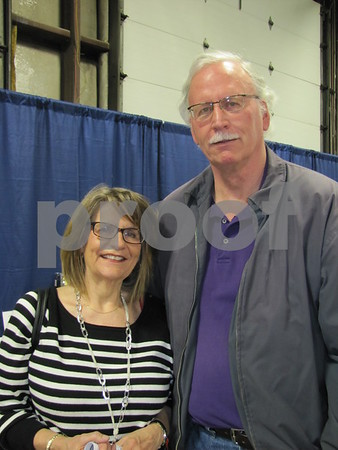 Judy Payne and Steve Cook attended the cake auction fundraiser.