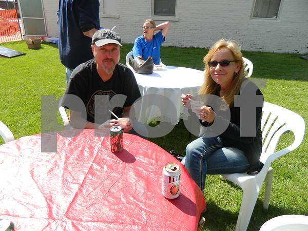 Left to right: Lori Passow and Kirk Kaufman enjoying some chili