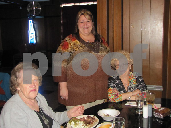 Lillian Busch, Letitia Christnagel, and Elinor Rutz at the Eagles Steak Fry fundraiser.