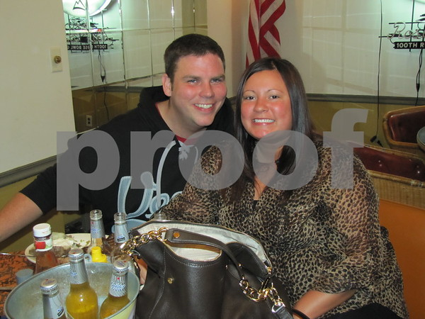 Scott and Jessica Christnagel enjoying a night out at the Eagles Steak Fry at Eagles Landing in Fort Dodge.