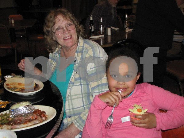 Beatrice Napier and Olivia Richardson attended the steak fry fundraiser at Eagles Landing.