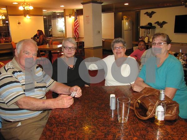 Butch Lau, Paula Johnson, Carol Link, and Joann Hoft at the Eagles Steak Fry fundraiser.