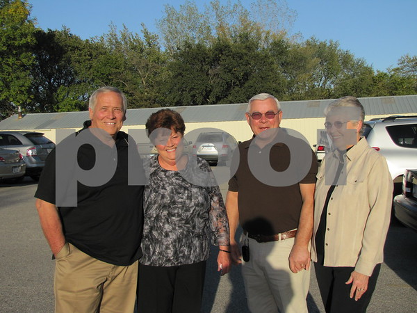 """Randy and Kathy Hunter with friends, Ron and Ruth Askelson, attended the """"Dinner with Chef Michael"""" fundraiser for the Lifeworks Foundation held at the Willow Ridge Restaurant."""
