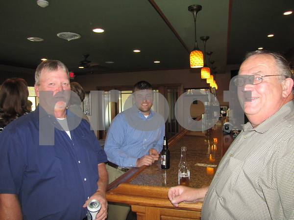 Keith Anderson, Dave Singer, and Jack Riley at the Lifeworks fundraiser held at Willow Ridge Restaurant.