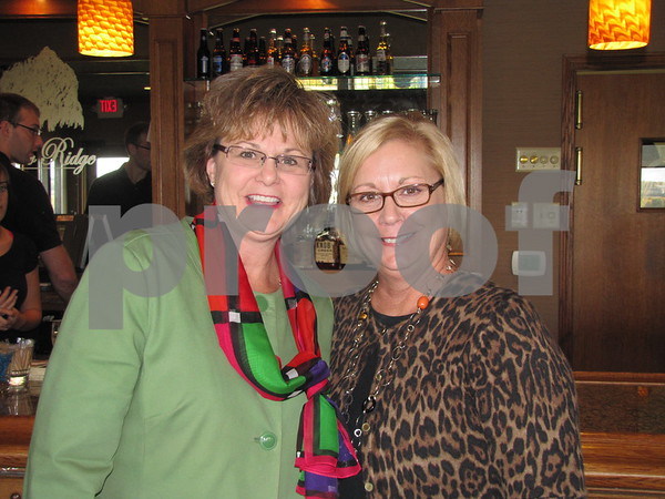 Cary Estland and Kelli Gunderson at the fundraiser for the Lifeworks Foundation featuring Chef Michael at the Willow Ridge Restaurant.