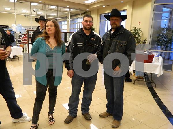 Left to right: Chris Garcia, James Johnson and Josh Sestak (Dog house builder)