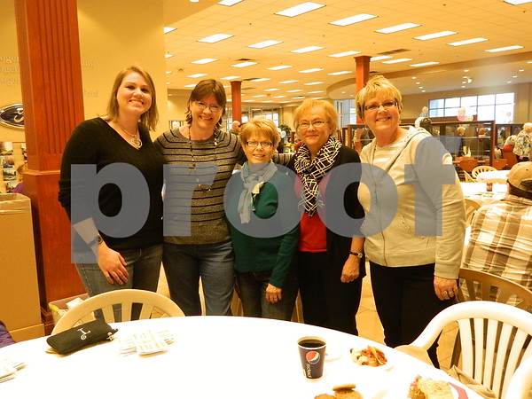 Right to left: Barb Vonsak, Bonnie Yoder, Kathy Messerly, Karen Thode, and Tiffany Thode